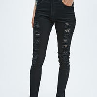 Courtshop Sybil Mid Slash Jeans in Grey - Urban Outfitters