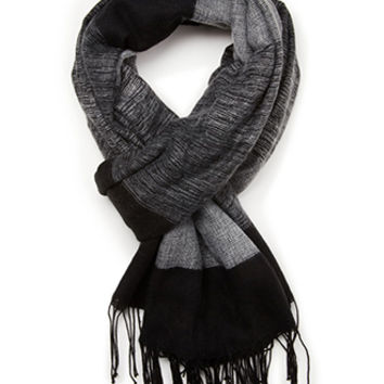 Fringed Colorblock Scarf