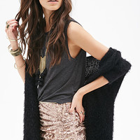 Abstract Sequined Mini Skirt