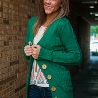 Take It Easy Cardigan, Green