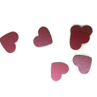 Dual Side Shimmer Pink / Matte Pink OR Your Color Choice Mini Hearts Table Scatter / Confetti / Embellishments