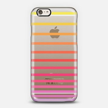 Sunrise Ombre Stripes Transparent iPhone 6 case by Organic Saturation | Casetify