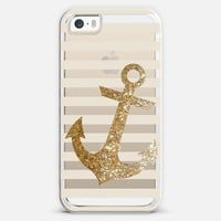 Glitter Anchor in Gold iPhone 5s case by Nika Martinez | Casetify