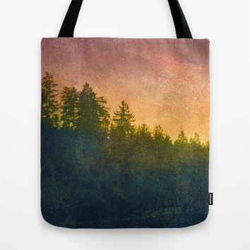 The Blurring of Trees Tote Bag by Tordis Kayma