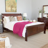 Castleton Home Louis Philippe Queen Sleigh Bed