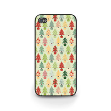 Christmas Tree Pattern Red, Green, White