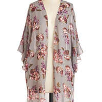 ModCloth Boho Long Short Sleeves Savoring the Simple Jacket