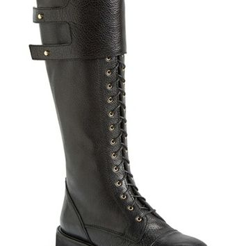 Women's Moero Lace-Up Leather Tall Boot