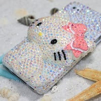 Cute Hello Kitty Style Mobile Phone Case Deco Den Kit for Handmade Crystal Mobile Phone Cases (Case is not included)