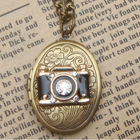 Steampunk Camera Locket Necklace Vintage Style Original Design
