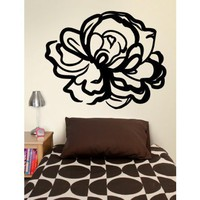 Large Rose Decal
