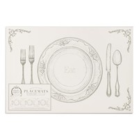 Kitchen Papers by Cake 'Eat, Stuffed, Thanks' Paper Placement Pad