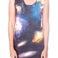 Cosmic Galaxy Shirt Space Nebula Universe Tank Top Women Shirts Black Shirt Tunic Top Vest Sleeveless Women T-Shirt Size S M