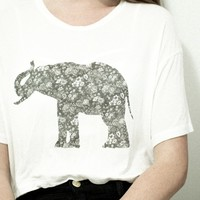 ZOOEY FLORAL ELEPHANT TOP