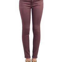 ModCloth Skinny Chance Encounter Jeans in Cocoa