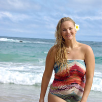 OHEO : One-Piece REVERSIBLE Strapless Knotted Bathing Suit - Create Your Own
