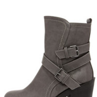 Soda Shena Grey High Heel Boots