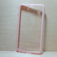 Samsung Galaxy Note 3 Case Silicone Bumper and Clear Hard Plastic Back - Light Pink