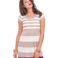 Rugby Striped Sweater Dress | Wet Seal