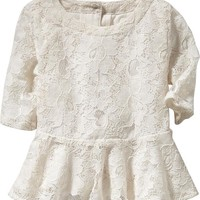 Lace Peplum Tops for Baby