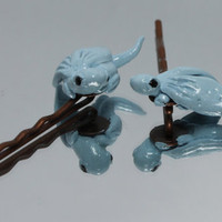 Dragon Bobby pins Baby Blue Set Of 2