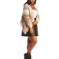 Chunky Knit Striped Open Cardi | Wet Seal+