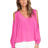 Daydream Blouse in Peony Pink