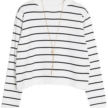 Classic Striped Crooped Sweater OASAP.com OASAP Giveaway, 10 pieces per day, till the end of 2014! Easiest way to get free clothing!