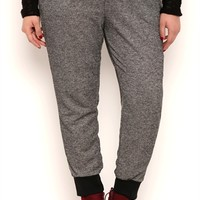 Plus Size Marled Knit French Terry Jogger Pants