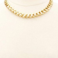 Pearl Embellished Chain Choker Necklace by Charlotte Russe - Gold