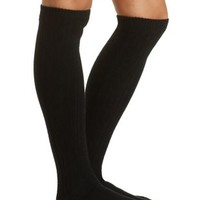Cable Knit Knee-High Socks by Charlotte Russe