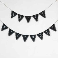 Alexis Mattox Design Zigzag Chalkboard Pennant Banner - Urban Outfitters