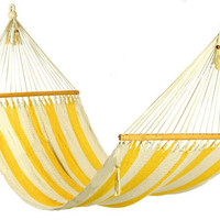 Stylish yellow and white stripes Hammock