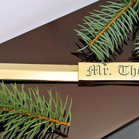 Personalized Gold Plated Letter Opener Engraved Free