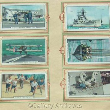 The Navy Full Set of 48 Original Cigarette Cards in Official Album by Park Drive (Gallaher Ltd) Issued in 1937 (ref: 3091)