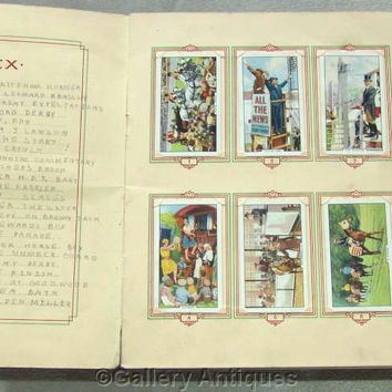 horse RACING SCENES Full Set of 48 Original Cigarette Cards in Official (Park Drive) Album by Gallaher Ltd Issued in 1938 (ref: 3091)