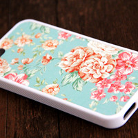Floral Pattern iPhone 6 Plus iPhone 6 iPhone 5S iPhone 5C iPhone 5 iPhone 4S/4 Rubber Case