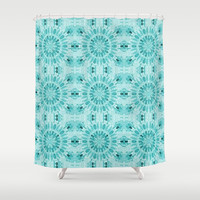 Teal Shower Curtain by lillianhibiscus | Society6