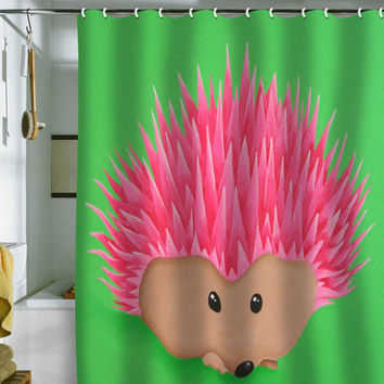 DENY Designs Home Accessories | Mandy Hazell Ollie Hedgehog Shower Curtain