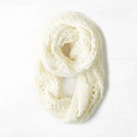 AEO Women's Cable & Open Knit Loop Scarf