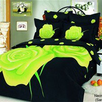 Neon Rose Duvet Cover Set|LeVele Duvets|Fashion Duvet Bedding