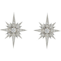 Diamond & White Gold Starburst Gretta Studs