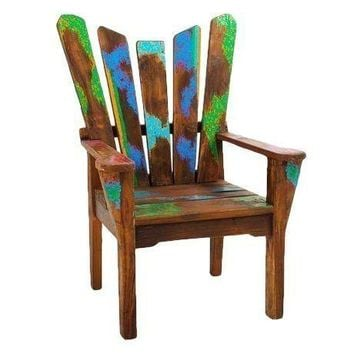 Pre-owned Dock Holiday Reclaimed Wood Arm Chair