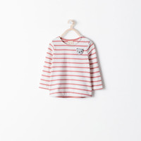 Striped t-shirt with applique