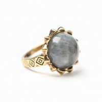 house of harlow - pyramid spike ring w/ labadorite (smoke) - House of Harlow 1960 | 80's Purple
