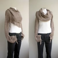 FREE Shipping New Season Milky - Brown  Wrap Bolero Scarf Shawl Neckwarmer gift for Women Girl Mom christmasinjuly