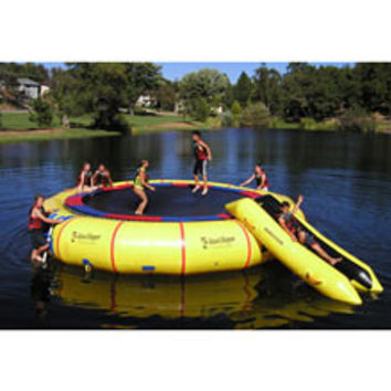 Aqua Sports Technology Island Hopper Jump-a-Lot with Double Slide