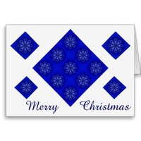 Merry Christmas Snowflakes Greeting Card by Janz