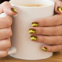 Crusty Gold Nails by Janz