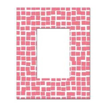 Pretty Pink Abstract Mosaic Tiles Rectangular Lock> Funky Pink Mosaic Squares> Nature Tees